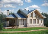 Проект загородного особняка с панорамными окнами площадью 179,1 кв. м