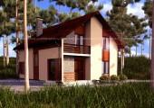 Типовой проект дома из СИП-панелей №1