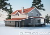 Проект дома №1533-8 С ГАРАЖОМ И ТЕРРАСОЙ