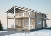Проект деревянного гостевого дома-бани №1588