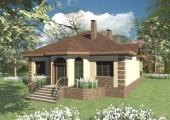 Готовый проект одноэтажного дома с 3 спальнями