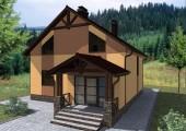 Типовой проект одноэтажного дома с мансардой
