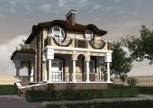 Проект двухэтажного дома с цокольным этажом