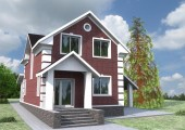 Готовый проект одноэтажного дома с мансардой