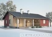 Проект одноэтажного дома №1574