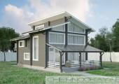 Проект деревянного дома №1572