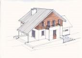 Рабочий проект 2-х этажного жилого дома