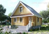Небольшой загородный дом-баня
