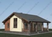 Проект одноэтажного дачного дома.