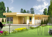 Одноэтажный современный дом 10 х 8 м, 120 кв. м.