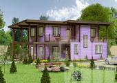 Двухэтажный дом 15 х 9 м, 231 кв. м.