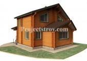 Дом из оцилиндрованного бревна 9.5 х 10 м