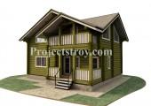 Деревянный дом из лафета площадью 140 кв. м