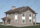 Проект двухэтажного дома с гаражом  К-06-17