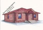 Проект одноэтажного дома в английском стиле