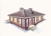 Одноэтажный дом для большой семьи