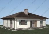 Проект одноэтажного дома из газобетона А-07-18/а
