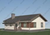 Проект одноэтажного дома площадью 120 кв. м.