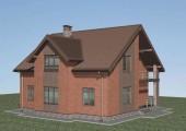 Проект дома из газобетона Н-09-15/а