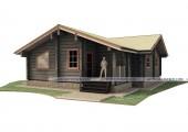 Деревянный дом из лафета 11.5 х 11.5 м