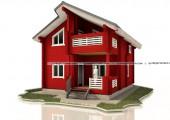 Деревянный дом 7 х 12 м - 124 кв. м