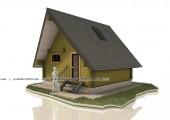 Треугольная баня 6 х 6 м