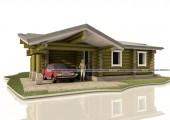 Загородный дом из рубленого бревна