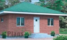 Проект кирпичного дома 90-06