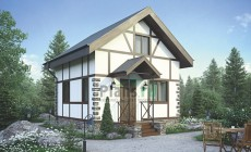 Проект кирпичного дома 73-14