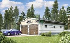 Проект кирпичного дома 74-00