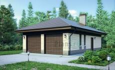 Проект кирпичного дома 39-74