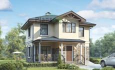 Проект кирпичного дома 73-23
