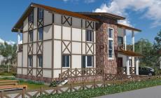 Проект каркасного дома 90-16