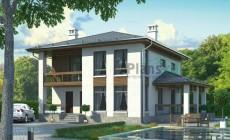 Проект бетонного дома 55-65
