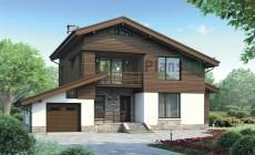 Проект бетонного дома 55-70