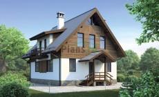 Проект бетонного дома 55-73