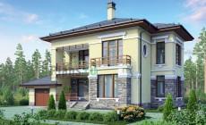 Проект бетонного дома 55-74