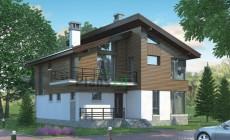 Проект бетонного дома 55-75