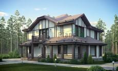 Проект бетонного дома 55-77