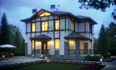 Проект бетонного дома 55-78