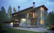 Проект бетонного дома 55-80