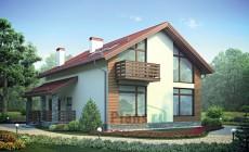 Проект бетонного дома 55-82