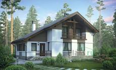 Проект бетонного дома 55-84