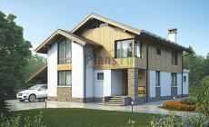 Проект бетонного дома 55-96