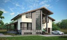 Проект бетонного дома 56-16