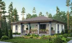 Проект бетонного дома 56-30
