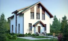 Проект бетонного дома 56-34