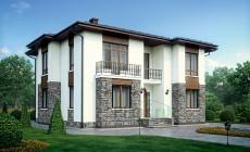 Проект бетонного дома 56-39