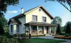Проект бетонного дома 56-43