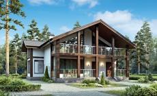 Проект бетонного дома 56-44